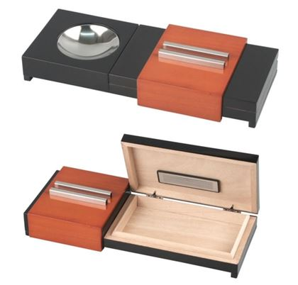 Cigar Humidor & Ashtray Combination